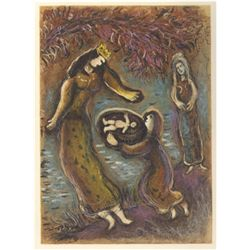Marc Chagall, The Story of the Exodus: Pharaoh's Daughter and Moses