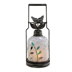 Butterfly Mosaic Glass Lantern / Candle Holder
