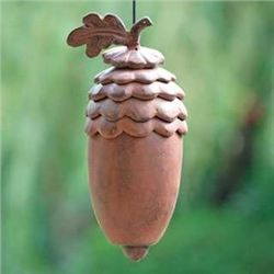 Acorn With Leaf Sectional Wind Chime