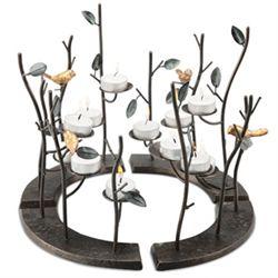 Birds & Branches Circular Candle Holder