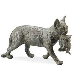 Cat With Kitten Cast Iron Garden Sculpture