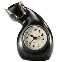 Cat Table Clock