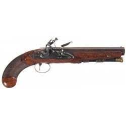 Wood Marked Flintlock Pistol