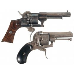 Collector's Lot of Two Pinfire Revolvers