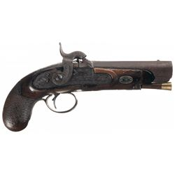 Early Style Deringer Marked Percussion Pistol