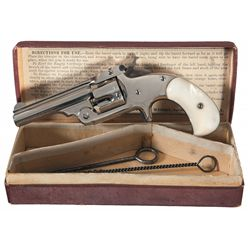 Excellent Smith & Wesson Model 1 1/2 1st Issue Revolver with Original Box and Pearl Grips
