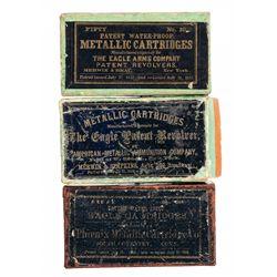 Three Rare Boxes of Antique Metallic Cartridges