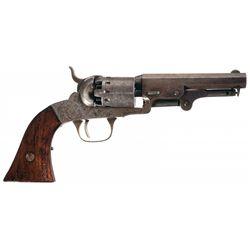 Scarce Factory Engraved Manhattan Pocket .31 Caliber Revolver