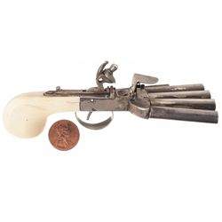 Miniature Ducks Foot Pistol with Bone Grips