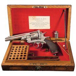 Blissett & Son Retailer Cased .455 Webley-Pryse Double Action Revolver
