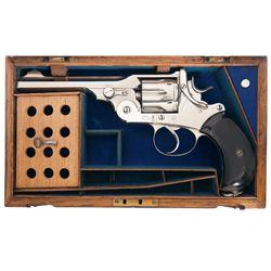 Cased Webley & Scott Model WG Double Action Revolver