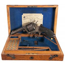 Retailer Cased Early Production Webley Solid Frame Double Action Revolver