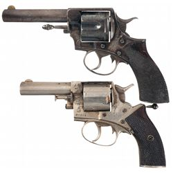 Collector's Lot of Two Webley & Scott Royal Irish Constabulary Double Action Revolvers