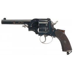 Unique British Self Extracting Double Action Revolver
