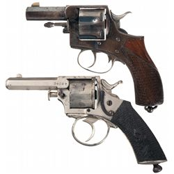 Collector's Lot of Two Webley & Scott Double Action Revolvers