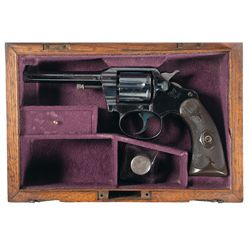 British Retailer Marked Colt Police Positive Double Action Revolver with Case