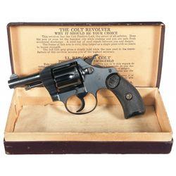 Outstanding Pre-War Colt Pocket Positive Double Action Revolver with Original Box