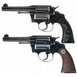 Collector's Lot of Two Colt Police Positive Special Double Action Revolvers in Different Calibers