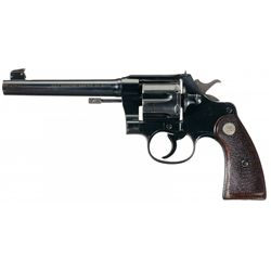 Scarce 45 Auto Caliber Pre-War Colt Shooting Master Target Revolver with Factory Letter