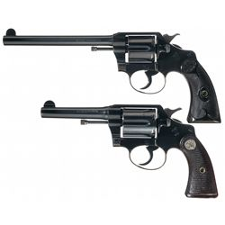 Collector's Lot of Two Colt Police Positive Double Action Revolvers with Different Barrel Lengths an