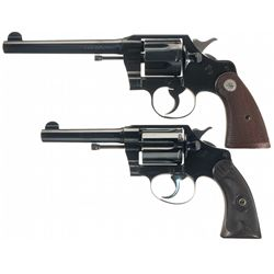 Collector's Lot of Two Pre-War Colt Double Action Revolvers