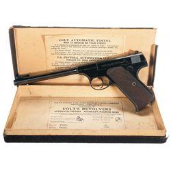 Pre-War Colt First Series Woodsman Target Model Semi-Automatic Pistol with Original Box
