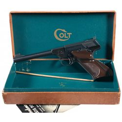 Excellent Colt Second Series Woodsman Target Model Semi-Automatic Pistol with Box