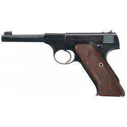 Excellent Colt First Series Woodsman Target Model Semi-Automatic Pistol