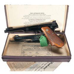 Pre-War Colt First Series Match Target Woodsman Semi-Automatic Pistol with Extra Barrel and Original