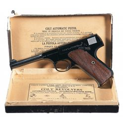 Excellent Colt First Series Woodsman Sport Model Semi-Automatic Pistol with Box