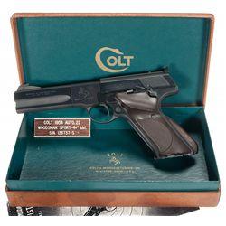 Excellent Colt Woodsman Second Series Match Target Semi-Automatic Pistol with Box