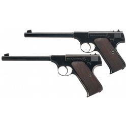 Two Colt Pre-Woodsman Semi-Automatic Pistols