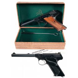 Two Colt Woodsman Series Semi-Automatic Pistols