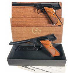 Two Woodsman Series Semi-Automatic Pistols