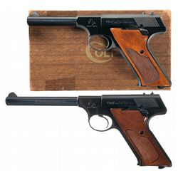 Two Colt Huntsman Model Semi-Automatic Pistols