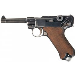"""Desirable Pre-War 1936 Dated Mauser """"S/42"""" Code Nazi Luger Pistol with 1936 Dated Holster"""