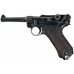 """WWII Nazi 1941 Dated Mauser Luger with """"byf"""" Markings and """"ku"""" Luftwaffe Proofs"""