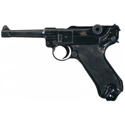 """WWII Nazi """"byf"""" Code 1941 Dated Mauser Black Widow Luger"""