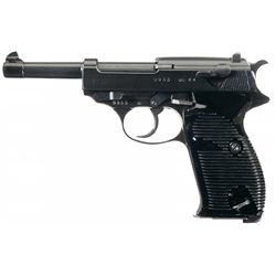 "WWII Walther ""ac 44"" Code P-38 Semi-Automatic Pistol with Extra Magazine and Hardshell Holster"