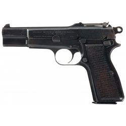 Nazi Occupation Fabrique Nationale High Power Pistol