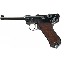 1937 Date Mauser Banner Commercial Contract Luger in 7.65mm Caliber