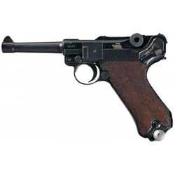 WWII Nazi 1941 Dated,  byf  Code Mauser Luger Rig