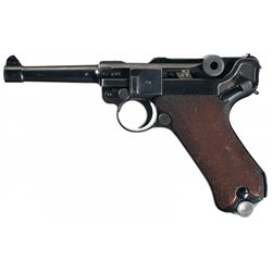 """WWII Nazi 1940 Dated Mauser Luger with """"42"""" Code Markings and """"Ku"""" Luftwaffe Proofs"""