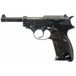 """WWII Walther """"ac/41"""" Code P-38 Pistol with Matching Magazine"""