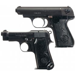 Collector's Lot of Two Nazi Marked Semi-Automatic Pistols