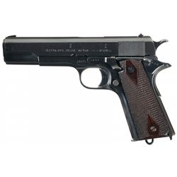 Norwegian Model 1914 Semi-Automatic Pistol with English Proof Marks and Holster