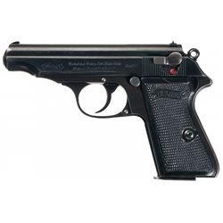 "Excellent Pre-War ""R.J."" Marked Commercial Model PP Semi-Automatic Pistol"
