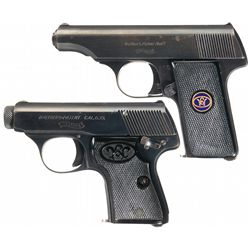 Collectors Lot of Two Walther Semi-Automatic Pistols