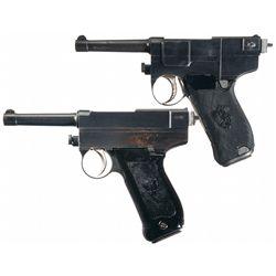 Collector's Lot of Two Italian Glisenti 9mm Semi-Automatic Pistols