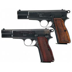 Collector's Lot of Two Belgian Browning High Power Semi-Automatic Pistols